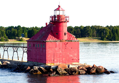 This is the Sturgeon Bay Lighthouse ...