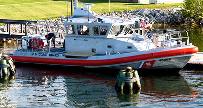 The Canal entry also houses this small Coast Guard boat.