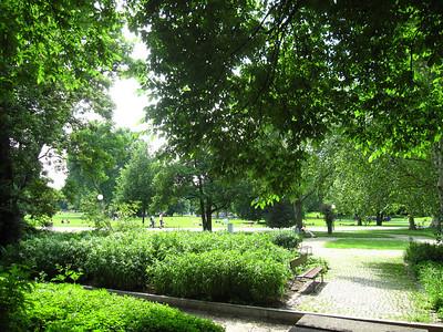 In the schlossgarten.  It was a quite nice city park.
