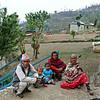 Villagers visit the school