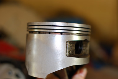 Cleaned generator piston.