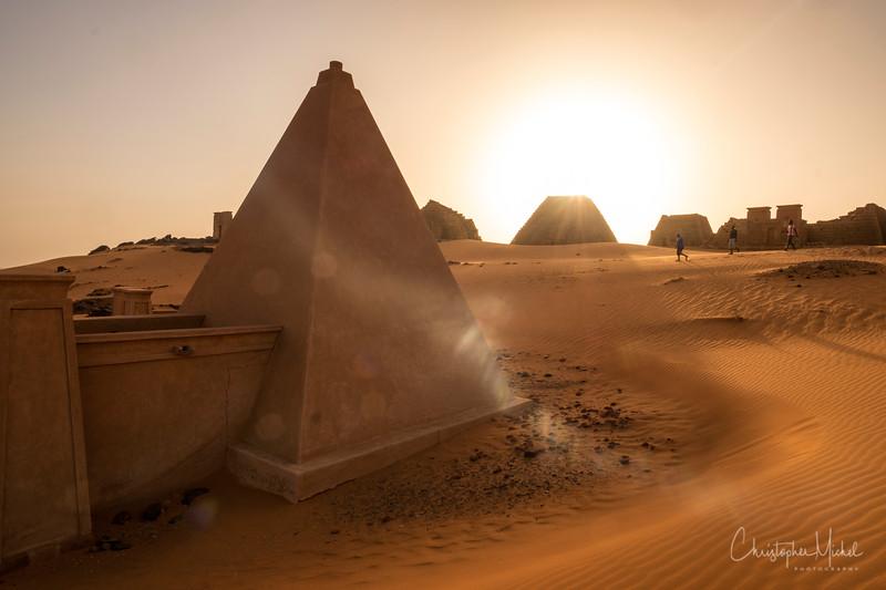 Exploring the pyramid fields of Meroë.