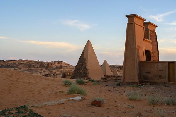 Meroe Pyramids at Sunset