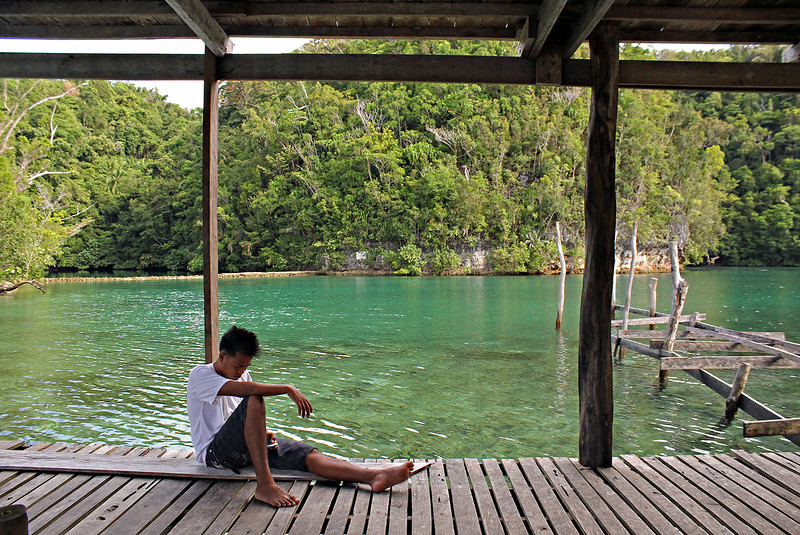 The scenic background provides a picturesque setting to unwind and relax while in the lagoon.  (Erwin M. Mascarinas)