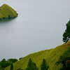 An islet in 1800-foot deep Lake Toba.