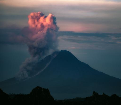 Morning Sinabung Eruption