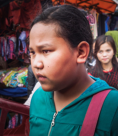 Girl in Local Market