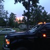 Ahh...a late June sunset over the four-ton truck. What could be more American?? <br /> <br /> NOTHING