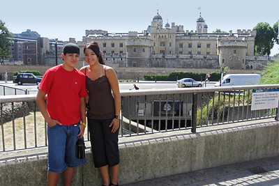 The Tower of London in the background.