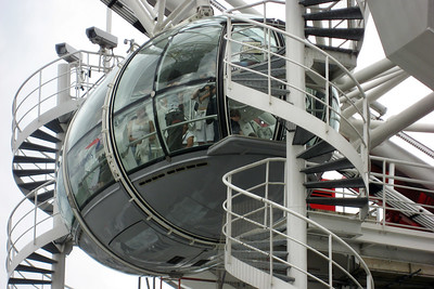 One of the pods of the London Eye