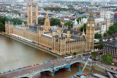 Big Ben and Parliament from the London Eye.