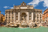 Trevi Fountain.  Another panorama composed of four separate photos stitched together.