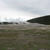 We got to the geyser about 20 minutes before it was predicted to erupt. Here it is just steaming away.