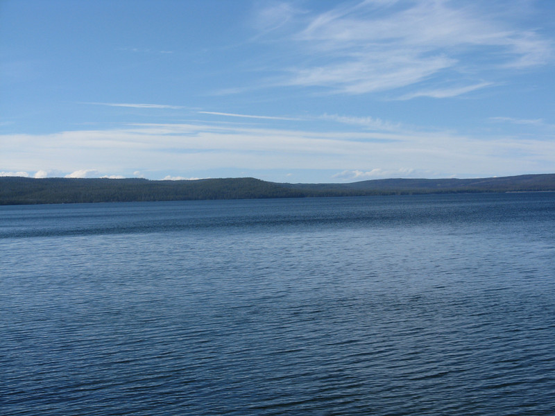 Looking across the West Thumb of the lake.