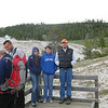 Along the geyser basin walkway at one of the many viewing locations.