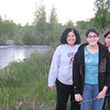 Christine, Alicia and Marissa on our hike over to the river.