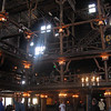 Old Faithful Lodge lobby interior has some amazing woodwork.