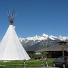 Tipi at the store in Grand Tetons.