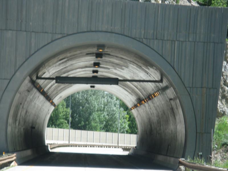 Tunnel ahead. Time to act like a caveman. Ugabugga!