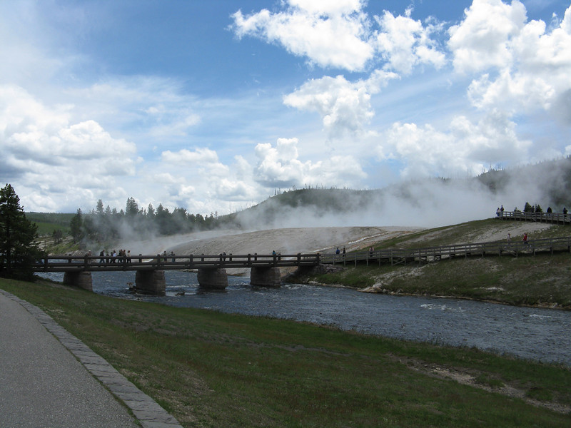 Next stop was the Midway Geyser Basin.