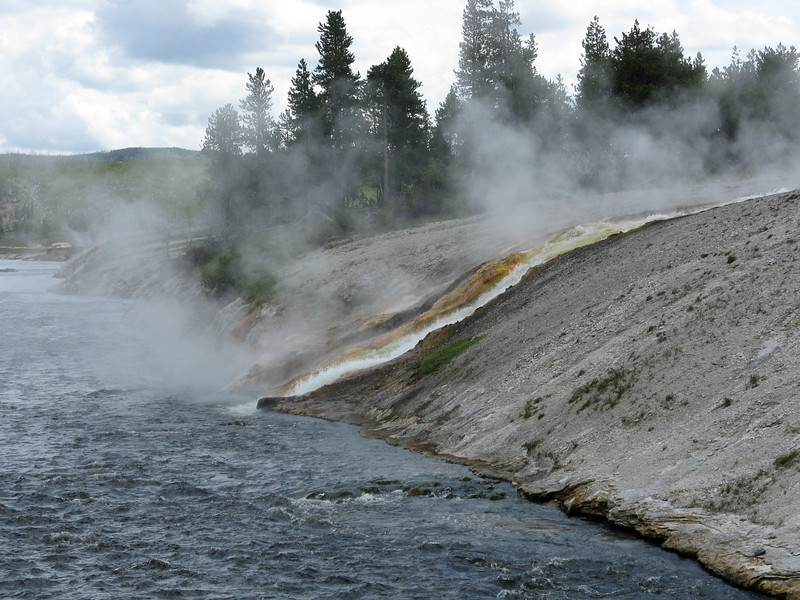 Outflow from the geysers into the river.