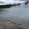 This geyser blew out a big crater in the past.