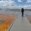 Bruce on the walkway around Grand Prismatic Spring.