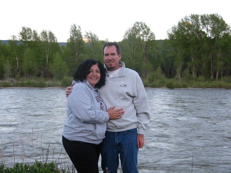 Christine and Bruce at the Gros Venture River.