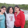 Alicia, Christine and Marissa by the river.