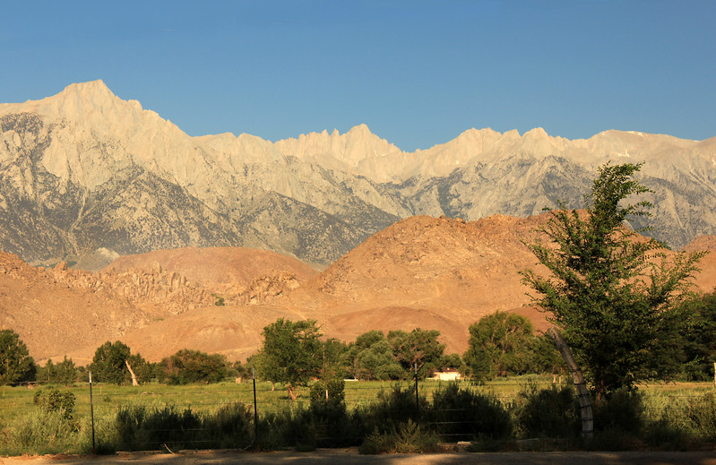 Whitney in BG, from Lone Pine