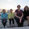 Norah, Lena, Aunt Kate & Krista watching the horses/ponies.