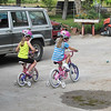 Yard sale bikes for entertainment - awesome!