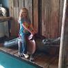Norah taming the gator!
