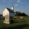 The Apple Grove Lutheran church where some of Nils' descendents are buried.