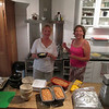 Ingrid and Ann in her kitchen.
