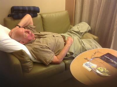 Harvey dozing on settee