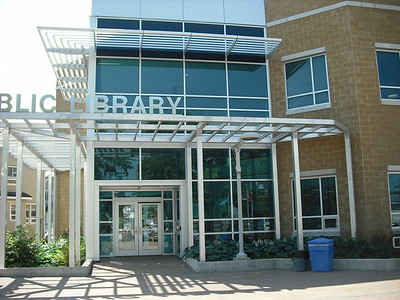 Modern public library, where we used the Internet