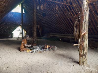 Kivikauden kylä, Saarijärvi. Stone-age Village, Saarijärvi.