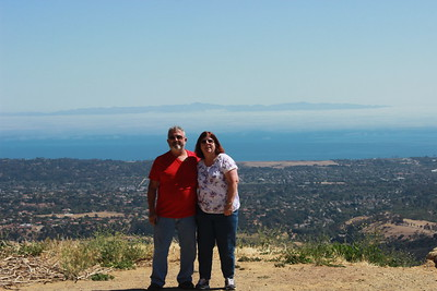 Santa Cruz Island can be seen behind us.