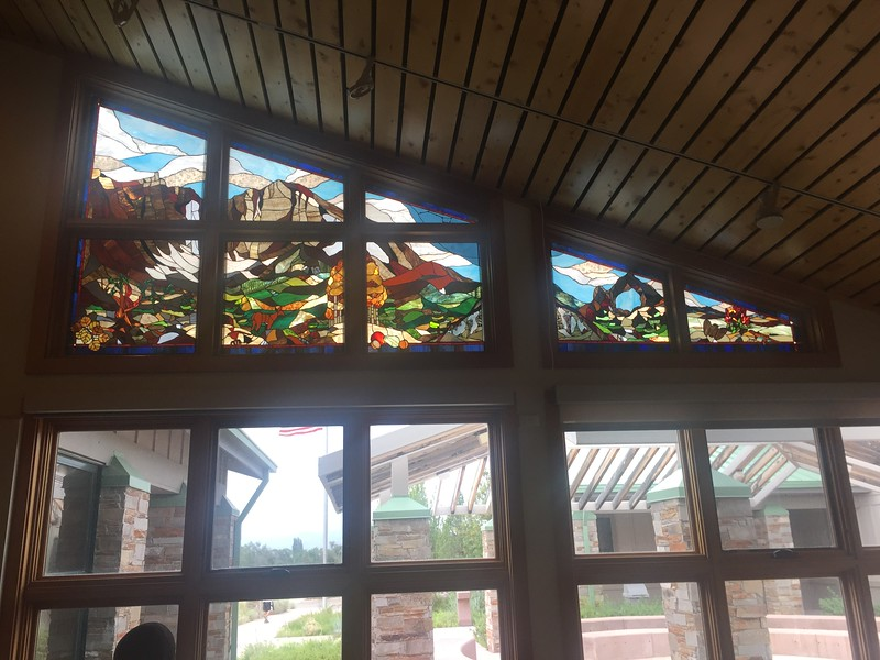 Tuesday we left Idaho and drove down Hwy 93 into Nevada and Great Basin National Park. Very nice stained glass in the visitor center.