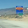 On to Arizona. I think it was about 111 degrees through here.