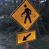 "A little added ""art"" to the cross walk sign."