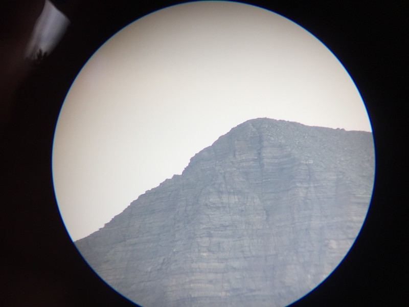 My attempt at using the iPhone camera with the telescope.