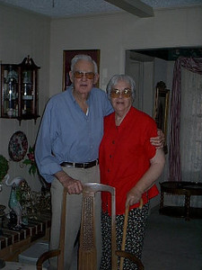 Amarillo,Tx. <br /> My 1st cousin Naomi and her husband Charles. He is a WWII vet. that fought the Japs in P.I.