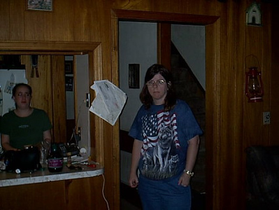 Cleveland,Okla <br /> My wife Julie inside my oldest daugther, Karrin,house.