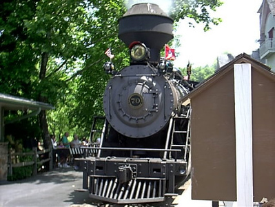 Dollywood steam train ran thru out the park