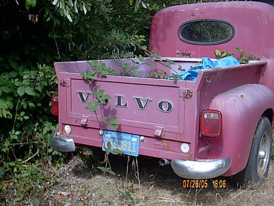 This old and very rare Volvo pick up. The owner of Beach rv had this in the back are and it woulf take a lot of TLC to get it back in drivable condition.