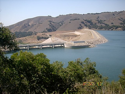 Lake Cachuma Dam from the out look area.