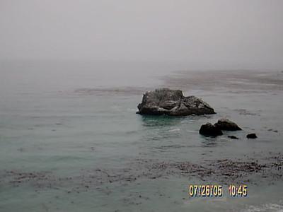 Light fog on the ocean.