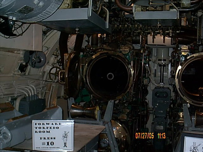 Forward tubes <br /> We made it to the forward torpedo tubes.
